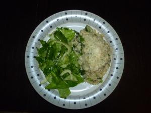Risotto and salad