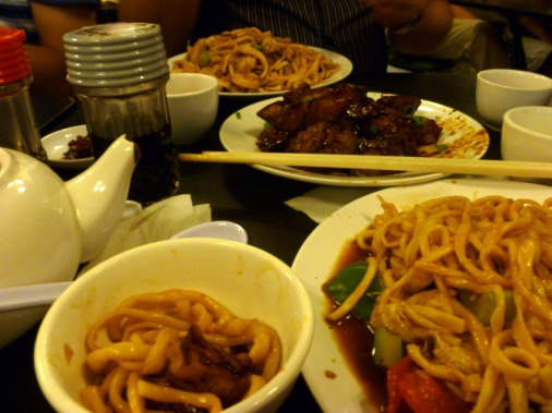 Dinner at the Chinese Noodle Restaurant, Sidney
