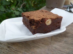 Chocolate Brownie at Farm Café