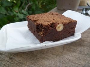 Chocolate Brownie at Farm Café