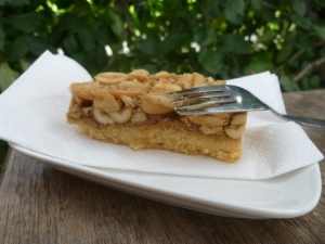 Salted Caramel Peanut Slice at Farm Café