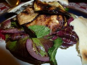 Aubergine & sumac Salad on Raddiccio