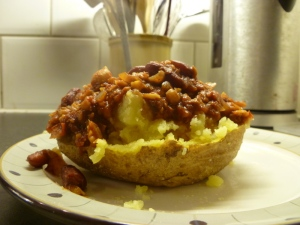 Jacket Potato with Veggie Chili