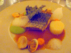 Grey Mullet with Fennel in Bouillabaise Jus