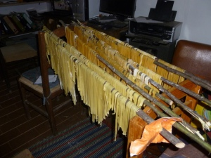 Drying Homemade Pasta (No Pasta Machine)
