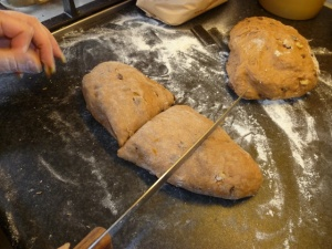 Cut the dough into eight equal(ish) pieces