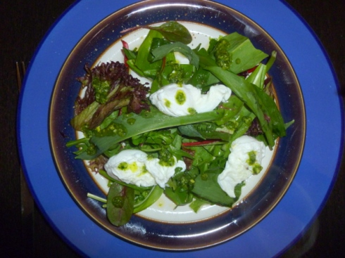 Wild Garlic & Qualis Egg Salad With Wild Garlic Pesto
