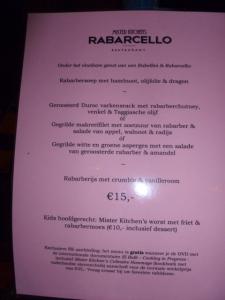Rhubarb Tasting Menu at Mister Kitchen, Ensuring We'll Be Back Tomorrow
