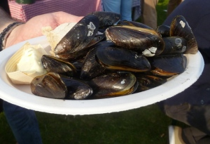 Barbecued Mussels from Big Green Egg