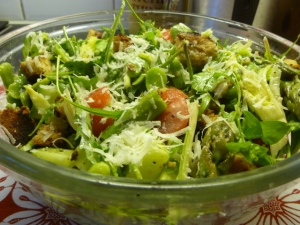 Garden Salad with Caesar Dressing