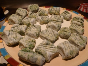 The Finished Nettle Gnocchi