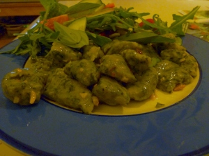 Nettle Gnocchi and Salad