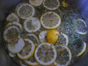 Steeping elderflower cordial
