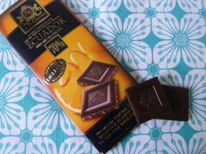 JD Gross Dark Chocolate with Orange Pieces