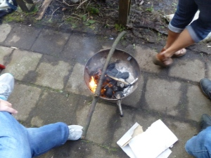 BBQ used as heat for guests