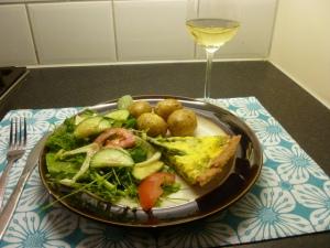 Asparagus & Lancahshire Cheese Tart