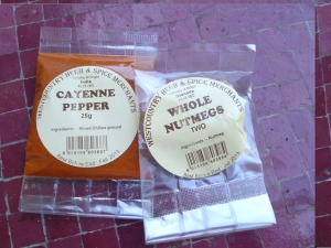 Foodie Penpal Cayenne Pepper and Nutmeg