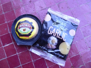 Foodie Penpals One Shot Garlic and Marmite Cheese