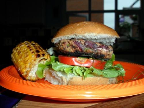 Bulgur & Bean Veggie Burger