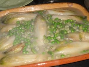 Braised Salad, Beans & Peas