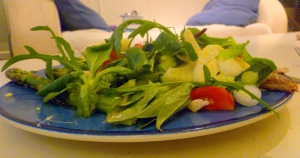Mixed Salad with Broad Bean Tips