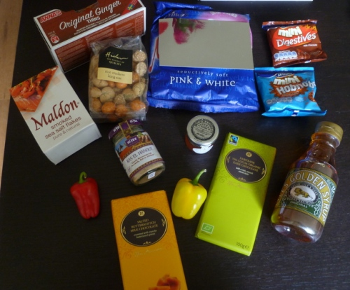 Contents of August Foodie Parcel