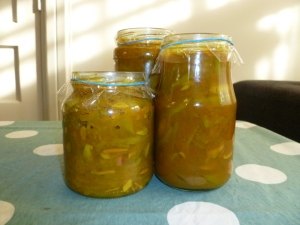 Jars of Green Bean Chutney