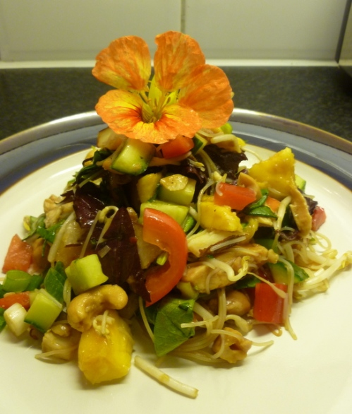 Thai Chicken, Mango and Noodle Salad