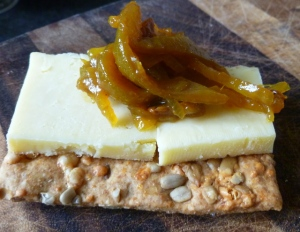 Green Bean Chutney, Cheese and Crackers