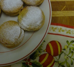 Mince pie with tarted up mincemeat
