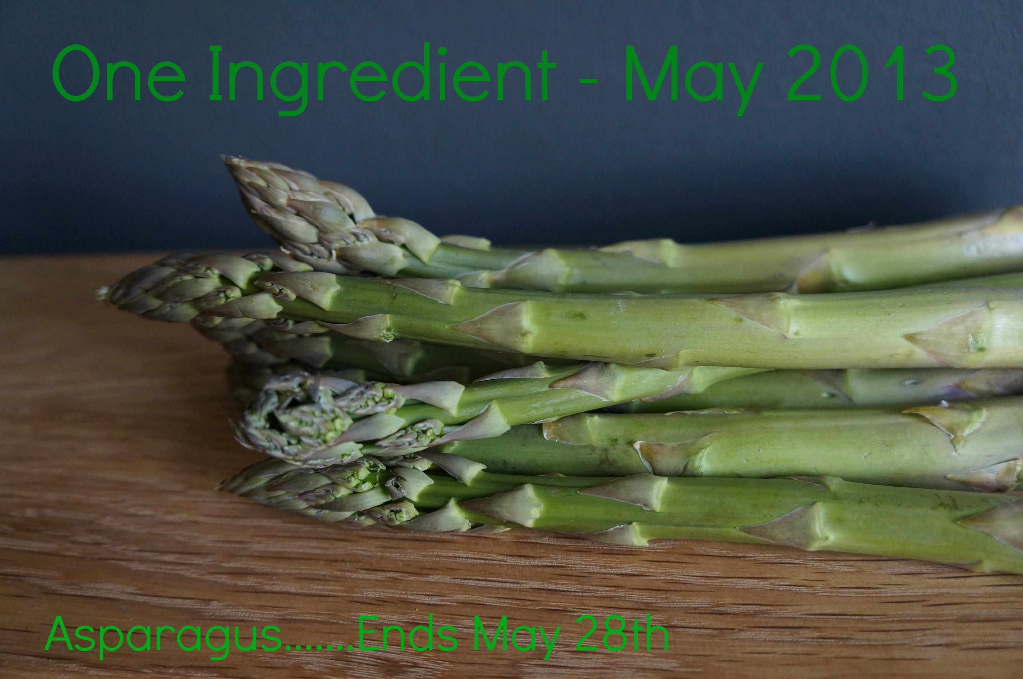 One Ingredient, Asparagus How To Cook Good Food Blog Badge