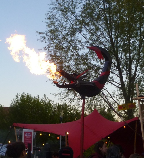 Fire breathing dragon at the Rollende Keukens