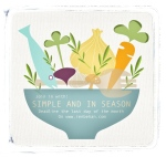 Simple and in Season Blog Badge