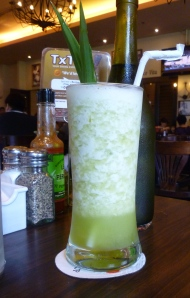 coconut and pandan juice