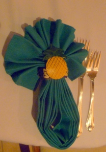 Pineapple napkin ring