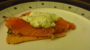 Gravad Lax with creamy dill sauce