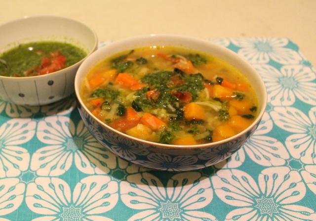 Winter Vegetable Soupe au Pistou
