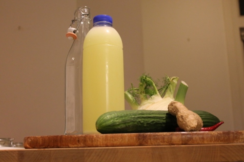 Fresh Whey and Vegetables