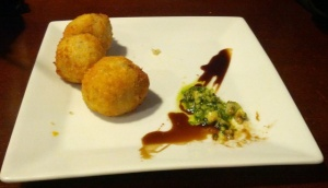 Arancini with Chorizo and Brie at the last kitchen, Fox Glacier