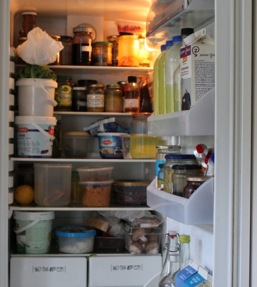 A clean and ordered fridge